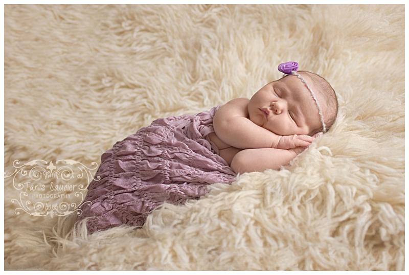 Montreal Newborn Photographer Tanis Saucier captures a sweet sleeping newborn girl
