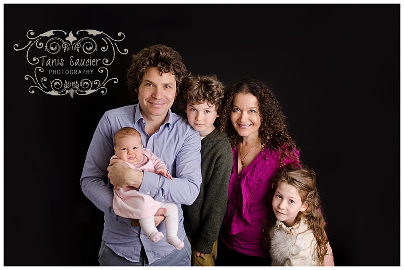 a lovely family during their family photo session in Montreal