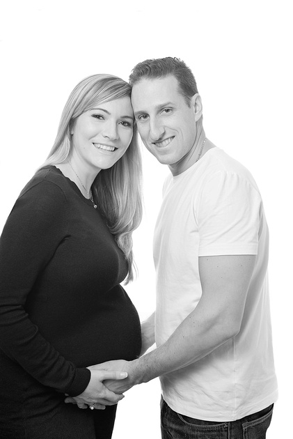 an expecting couple during a maternity photo session in Montreal with Tanis Saucier Photography