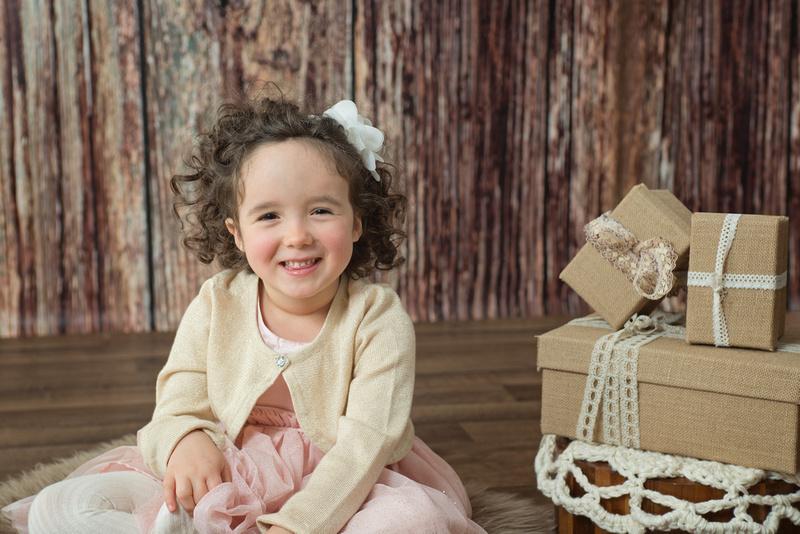 sweet 3 year old girl smiling