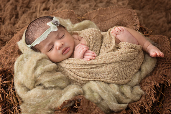 13 days new baby girl during her Montreal Newborn picture session with Tanis Saucier Photography