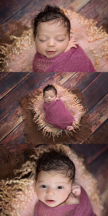 Sweet-newborn-girl-basket-pink-fur-wide eyes-tanissaucierphotography-montreal-newborn-2018_0002