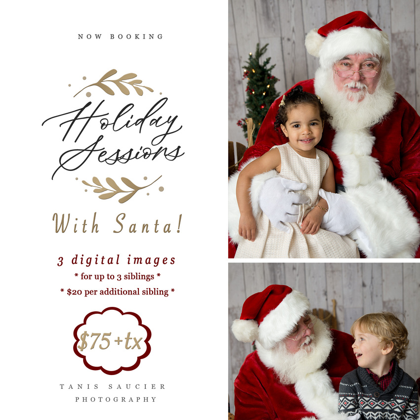 Tanis saucier Photography is hosting santa Sessions in Montreal in collaboration with Melons and Clementines.