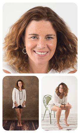 A collage of images from a female headshot session, taken on a variety of background by Tanis Saucier Photography in Montreal.
