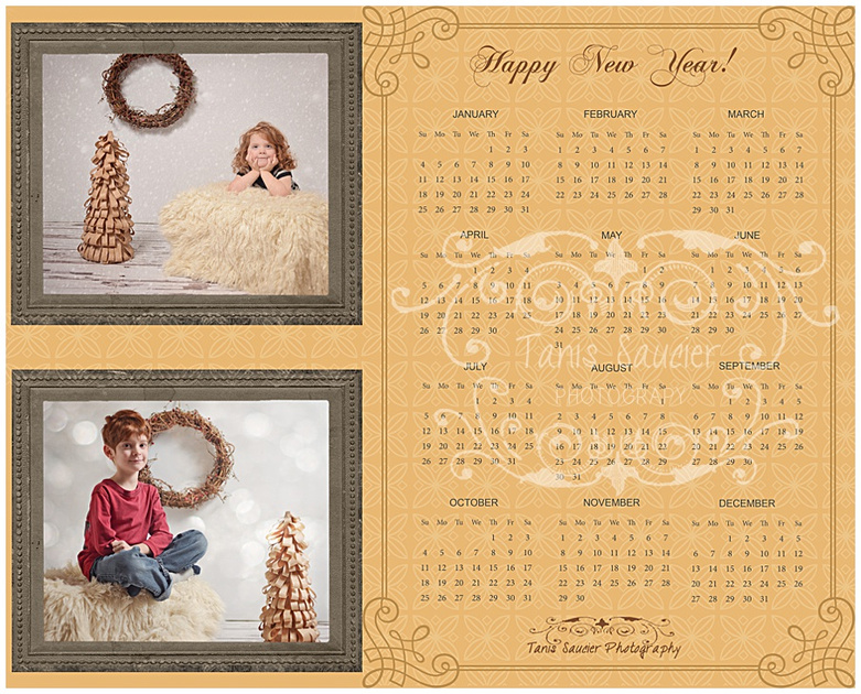 An image of a 2015 Custom Designed Calendar from Tanis Saucier Photography